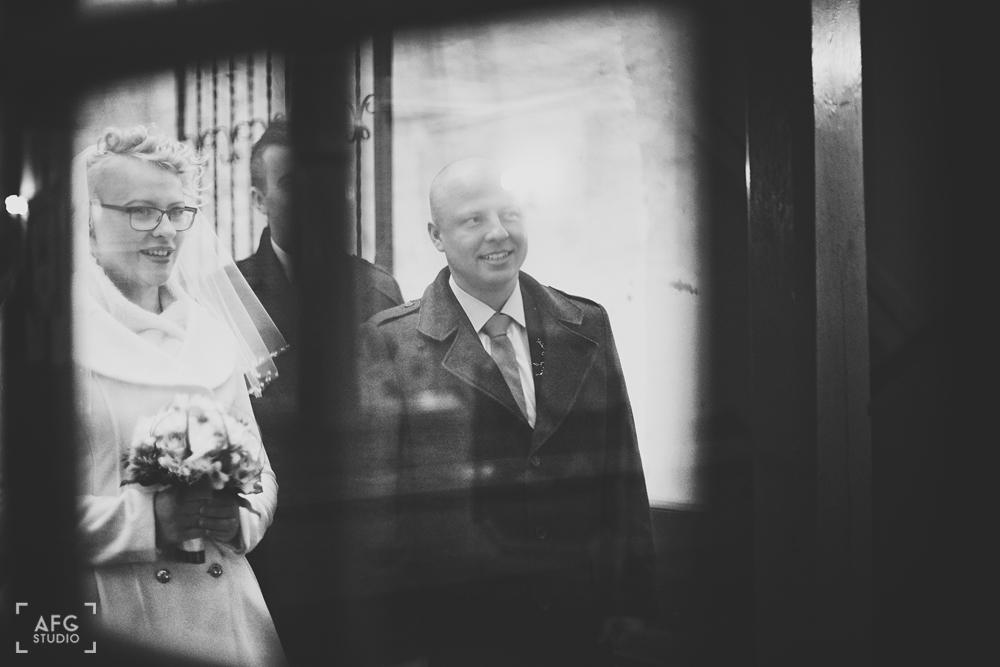 para młoda Żagań, ślub, zima