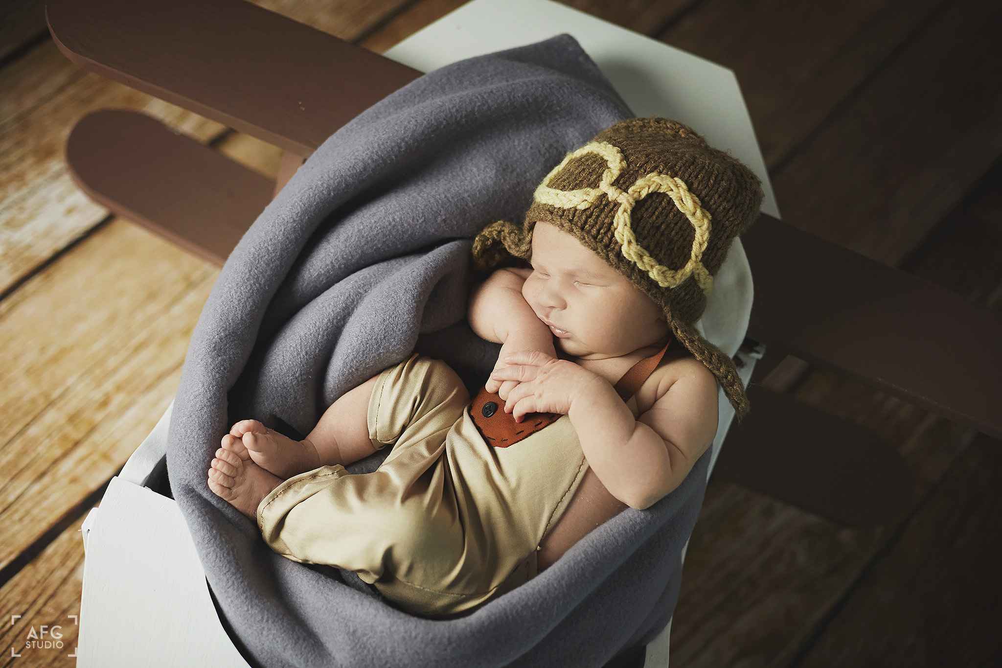noworodek, kocyk, samolot