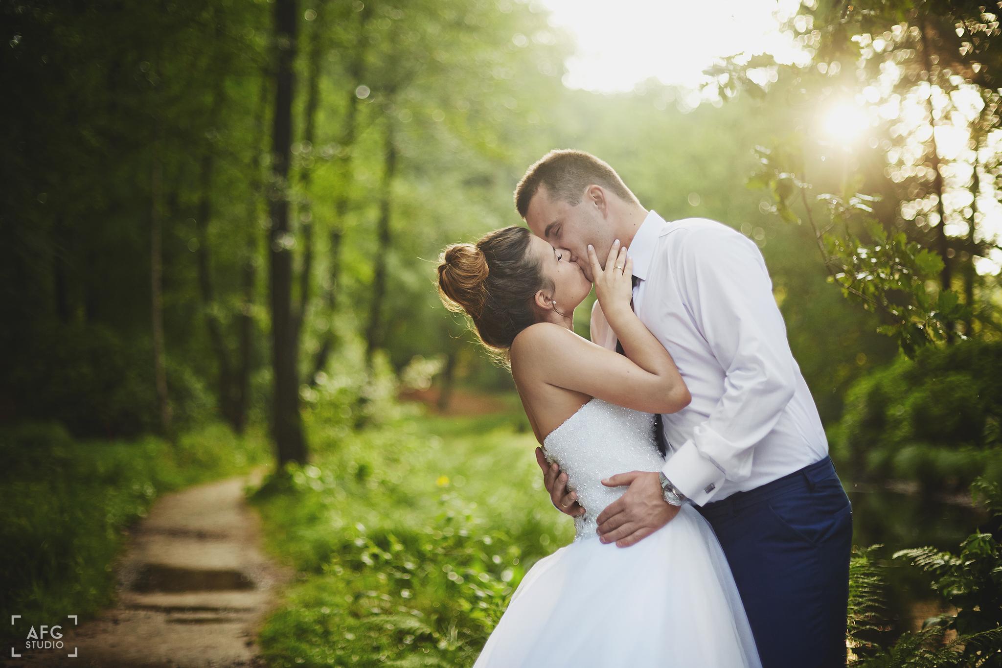 plener ślubny, Kromlau, Para młoda