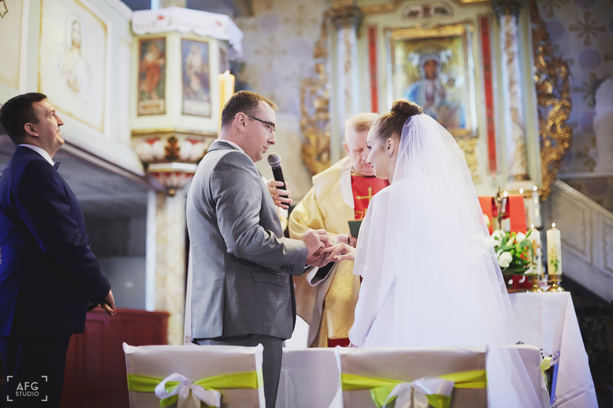 przysięga ślubna, Państwo młodzi, Kościół