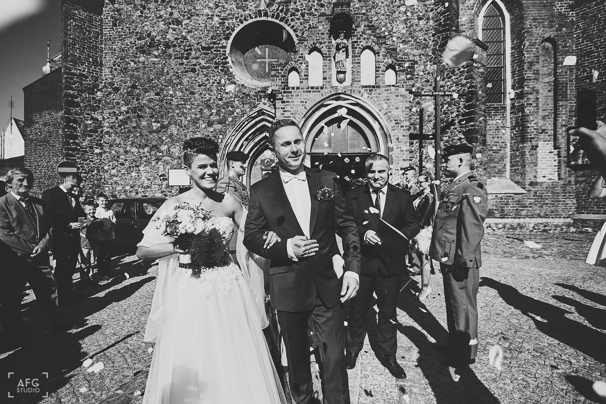 nowożeńcy, małżeństwo, para młoda