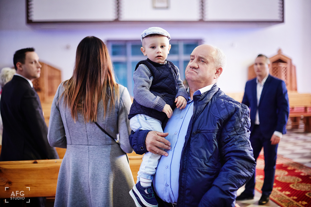 dziadek, wnuczek, chrzest swięty