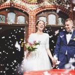 konfetti, kościół, ślub Żary