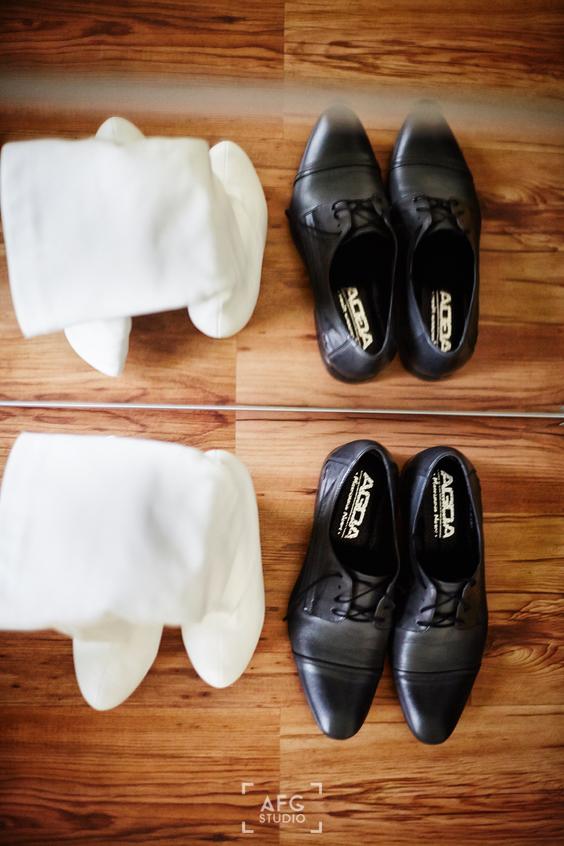 buty, ślub, para młoda
