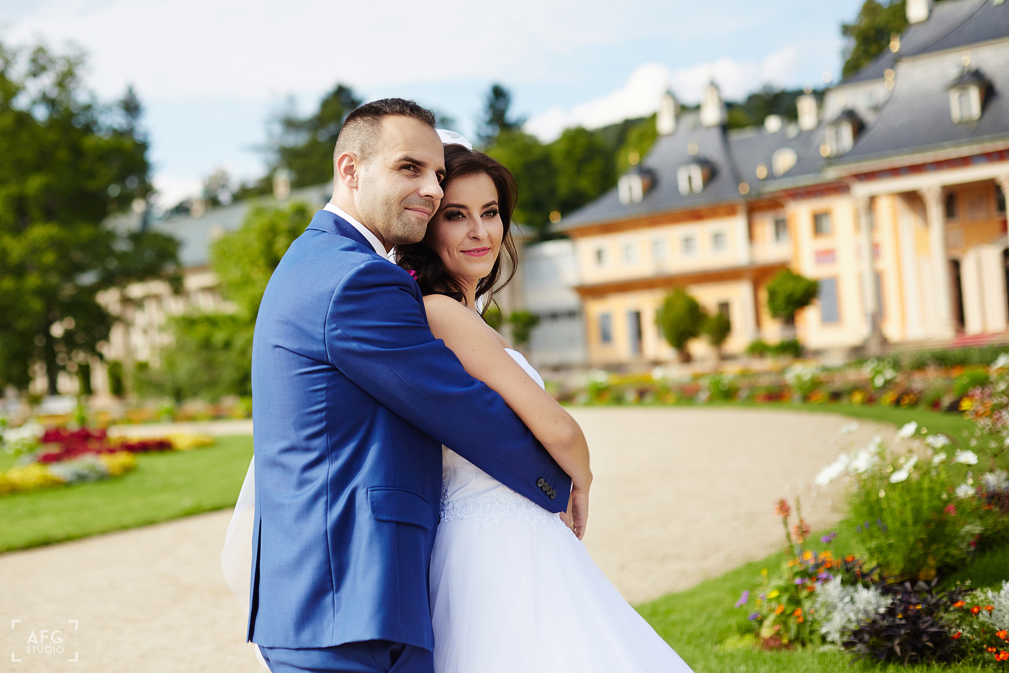 pałac, nowożeńcy, plac