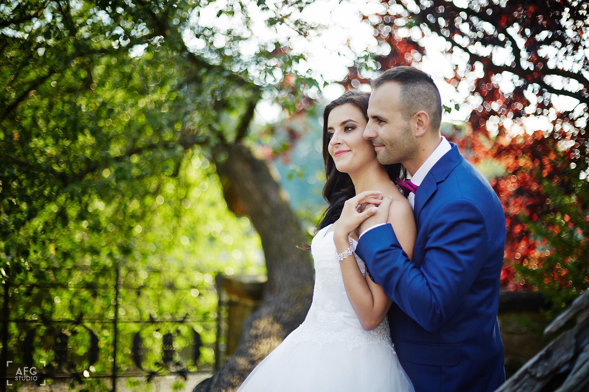 park, para młoda, suknia śluba