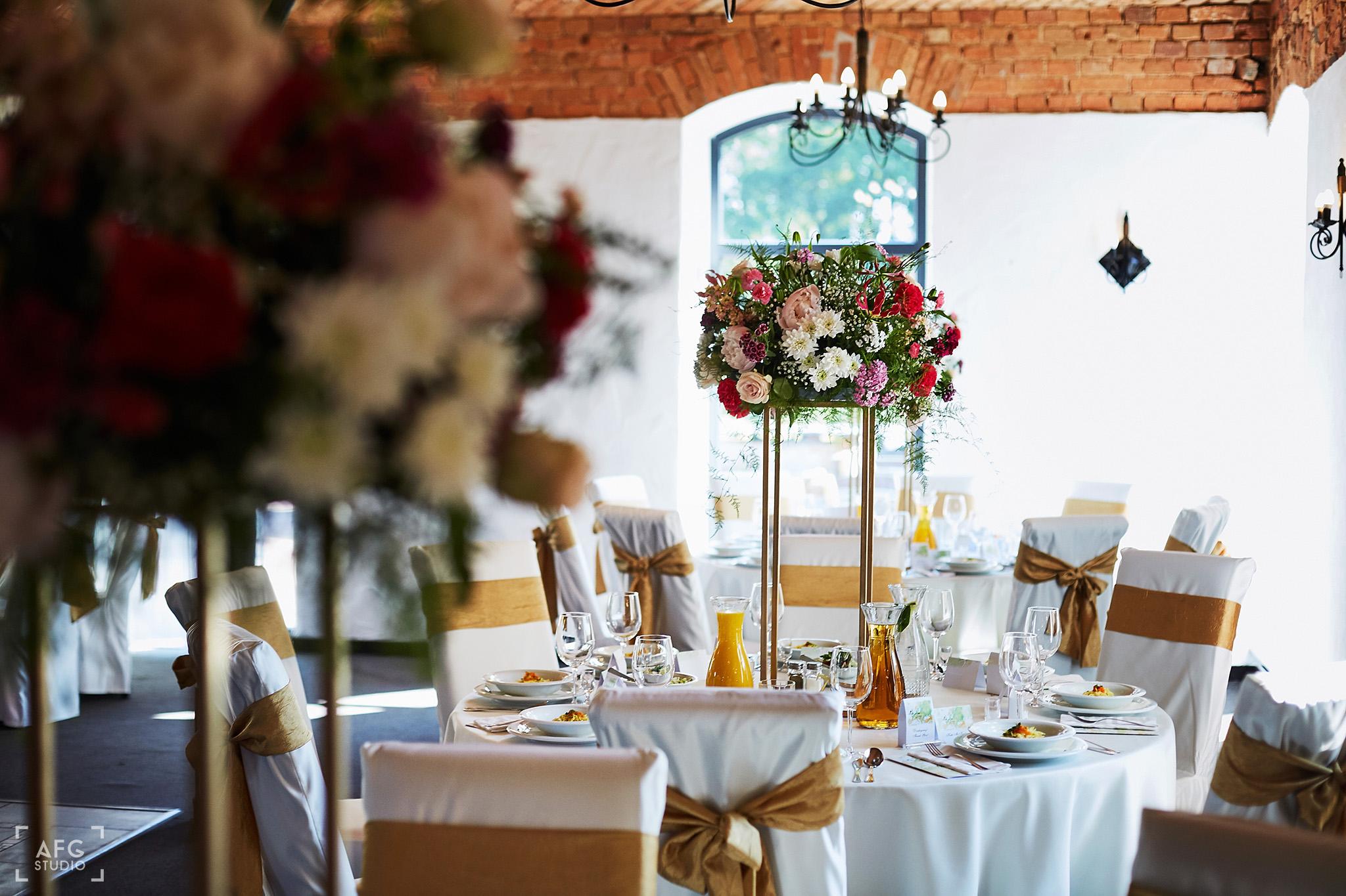 dekoracje ślubne, wesele, sala weselna