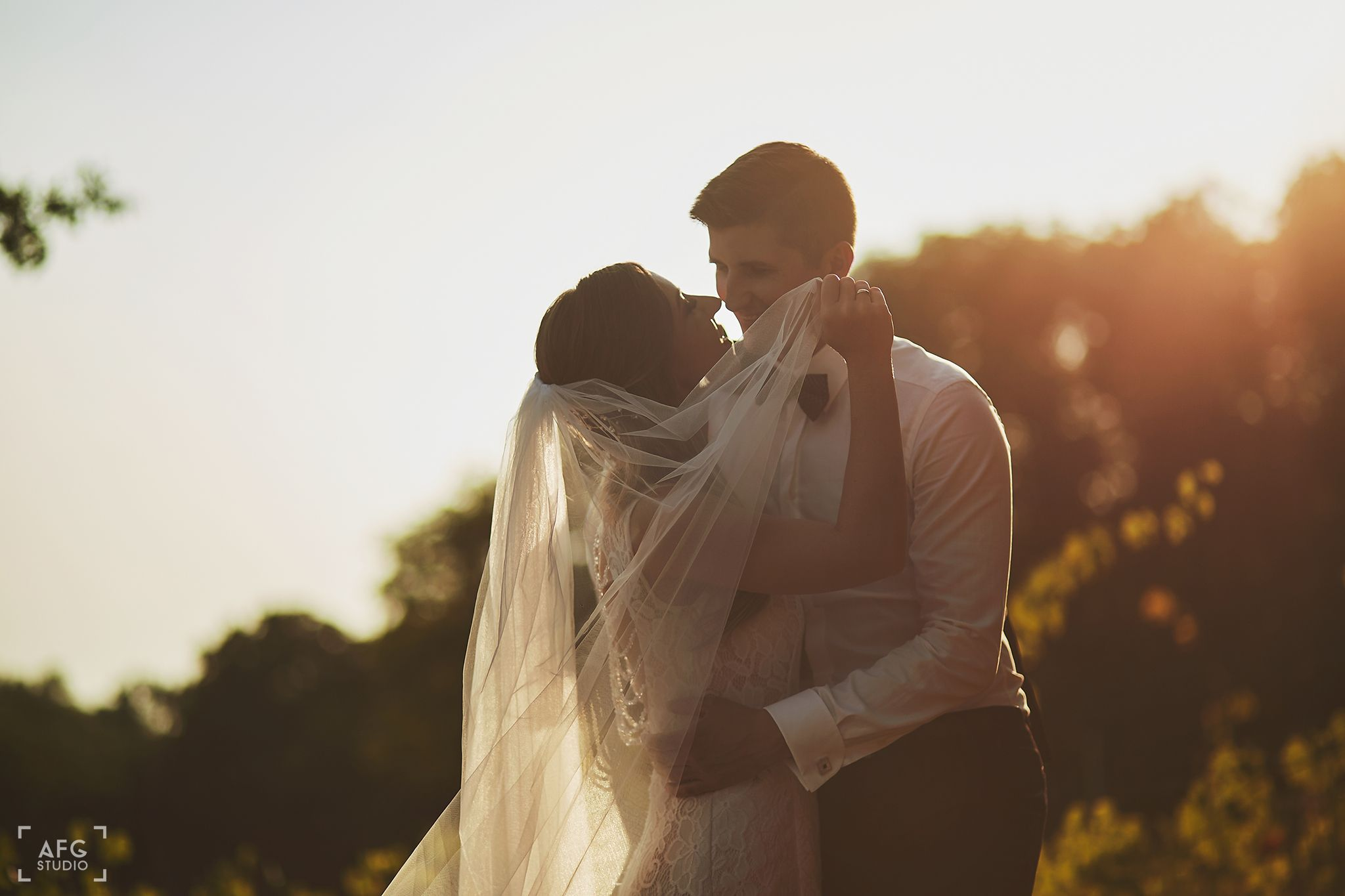 welon, mąż, żona, suknia ślubna