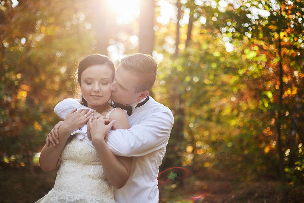fotografia ślubna, sesja ślubna, słońce