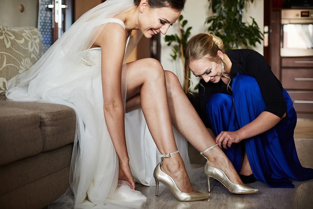 panna młoda, buty ślubne