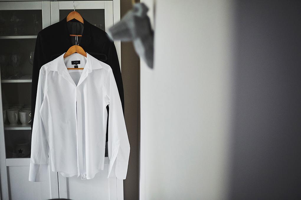 koszula, garnitur ślubny