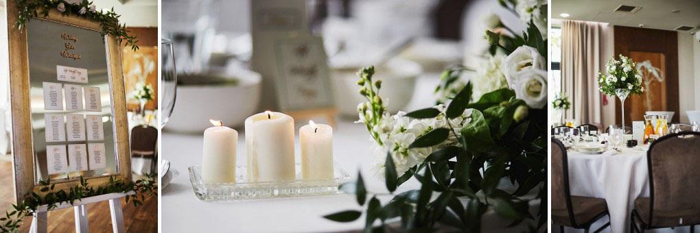 dekoracja ślubna, świeczki