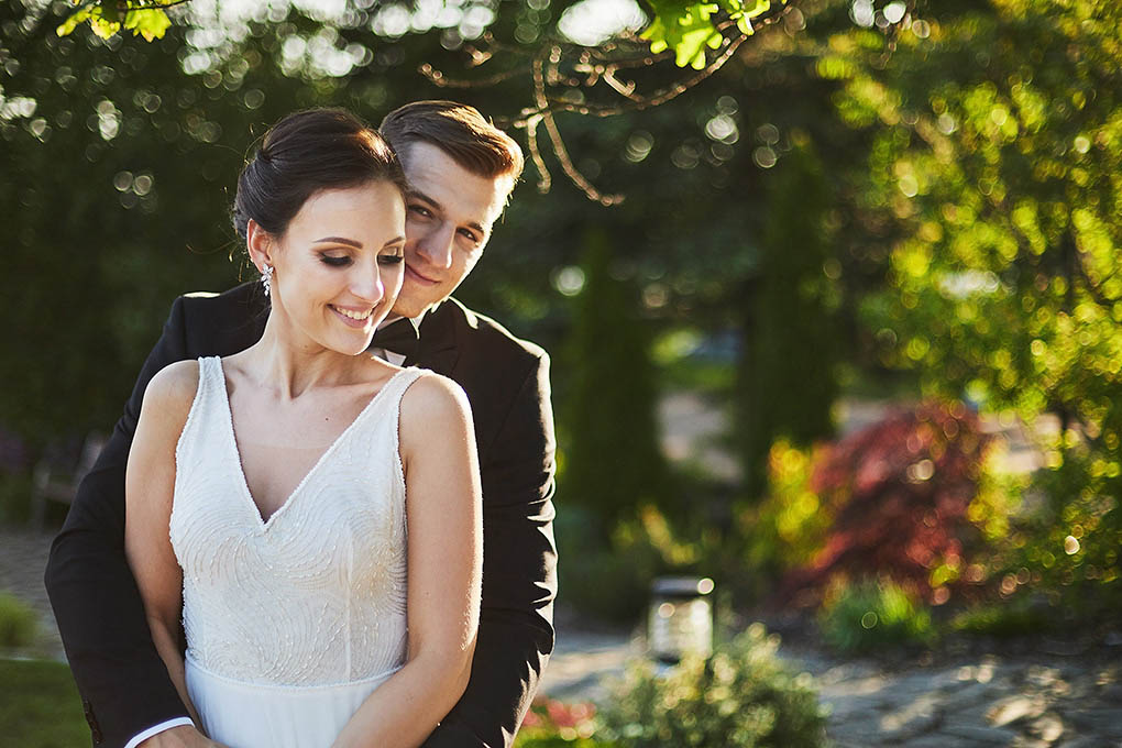 para młoda, sesja w dniu ślubu